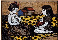 Graciela Zar y María Ines Tapia Vera en el Fondo Nacional de las Artes