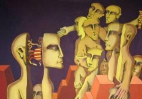 Osvaldo Borda en el Centro Cultural Borges